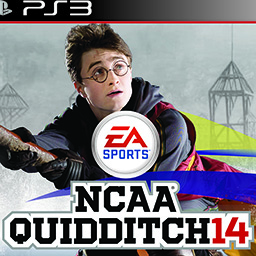 NCAA Quidditch '14 — A spoof cover of a Quidditch game, parodying the NCAA Football series. Made using Photoshop and Illustrator.